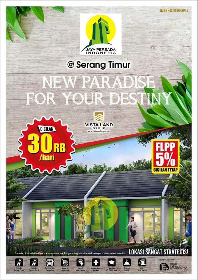 Rumah Subsidi-Didalam Cluster di Kota Serang Timur-Banten