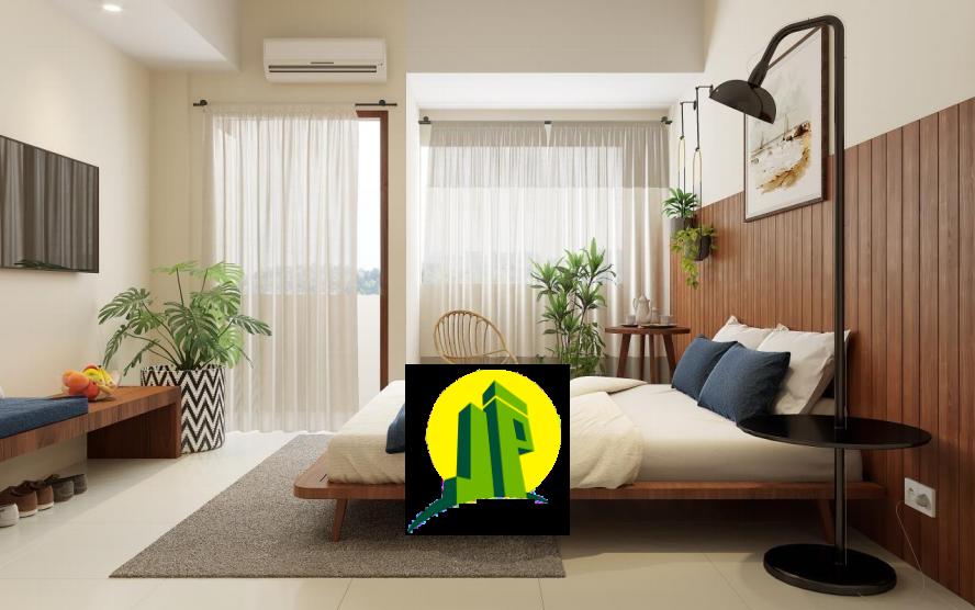 kamar tidur apartemen LRT di Sentul